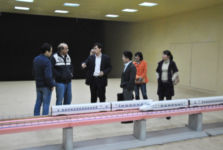 Kareem And Central South University Colleagues In The Wind Tunnel Laboratory, Highly Regarded For Its Role In The Development Of High-speed Railways In China